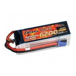 Gens ace 6200mAh 22.2V 25C 6S1P Lipo Battery Pack