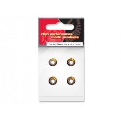 Scorpion Low Profile M5 Lock Nut (set of 4 CCW - Gold)