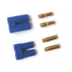 EC5-kontakter, 1 par - slät modell