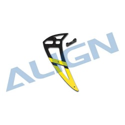 700E PRO Carbon Fiber Vertical Stabilizer-Yellow H70T006XXW