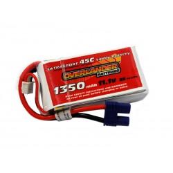 Overlander UltraSport 1350Mah 11.1v 45C 300X LiPo Battery OV-2536