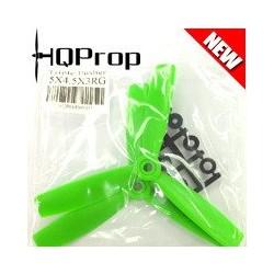 HQ 5X4,5X3 Bullnose Trebladig 2st CW Glasfiberförstärkt Grön (5X4.5X3RG)