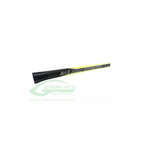 CARBON FIBER TAIL BOOM YELLOW/CARB 650 SIZE B. NITRO/THUND