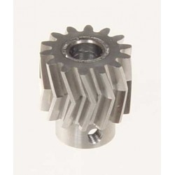 Pinion for herringbone gear 14 teeth 25°, M1, dia. 6mm
