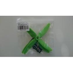HQ 5X4X4 4-bladig 2st CCW Glasfiberförstärkt Grön (5X4X4G)