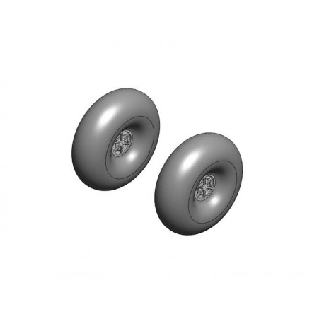 Multiplex FunCub hjul Ø120mm 1par