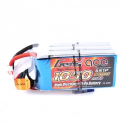 Gens ace 1050mAh 22.2V 45C 6S1P Lipo Battery Pack (Goblin 280 Fireball)