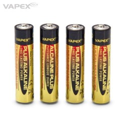 Vapex Alkaline Plus Batteri AAA 4-pack