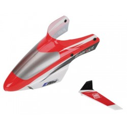 Complete Red Canopy with/Vertical Fin (Blade mSR)