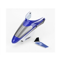 Complete Blue Canopy with/Vertical Fin (Blade mSR)