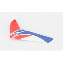 Red Vertical Fin with Decal (BLade mCPX)