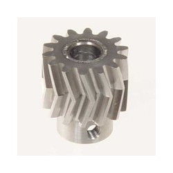 Pinion for herringbone gear 14teeth, M1, dia.6mm
