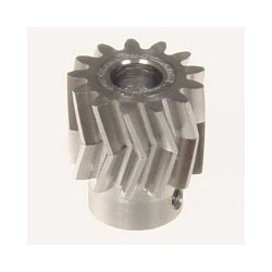 Pinion for herringbone gear 13teeth, M1, dia.6mm