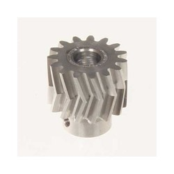 Pinion for herringbone gear 15teeth, M1, dia.6mm