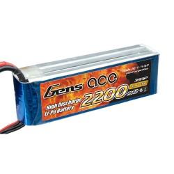 Gens ace 2200mAh 11.1V 25C 3S1P Lipo Battery Pack (T-kontakt/Deans-typ)