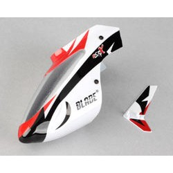 Complete White Canopy w/ Vertical Fin (Blade mSR X)