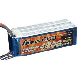 Gens ace 4000mAh 22.2V 25C 6S1P Lipo Battery Pack