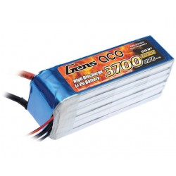 Gens ace 3700mAh 22.2V 35C 6S1P Lipo Battery Pack