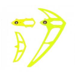 Fin set neon yellow, LOGO 500/550/600