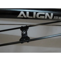 Tail Boom Support Brace 550,600,700 size Carbon