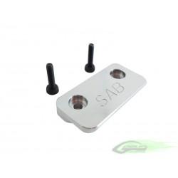 Aluminum CNC Battery Tray Stop - Goblin 630/700/770 [H0150-S]