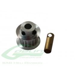 Aluminum Motor Pulley Z18 - Goblin 500 [H0215-18-S]