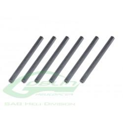 Aluminum Spacer 54mm(6pcs) - Goblin 500 [H0239-S]