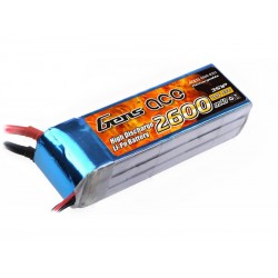 Gens ace 2600mAh 11.1V 60C 3S1P Lipo Battery Pack