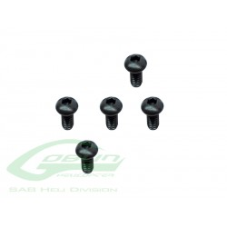 DIN 12.9 Button Head Cap M2x5 (5pcs) - Goblin 500 [HC005-S]