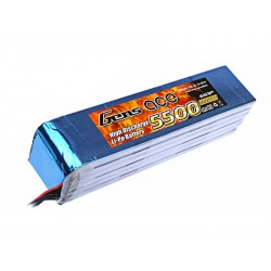 Gens ace 5500mAh 22.2V 25C 6S1P Lipo Battery Pack