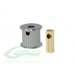 Aluminum Motor Pulley 21T (for 6/8mm motor shaft) - Goblin 770/Goblin 700 Competition [H0175-21-S]