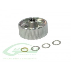 Aluminum Double Bearing One Way Pulley - Goblin 770/Goblin 700 Competition [H0171-S]